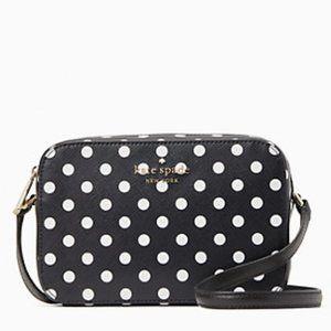 ♠️ Kate Spade Polka Dot Staci Mini Camera Bag NWT